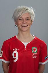 TREFOREST, WALES - Tuesday, February 14, 2011: Wales' Jessica Fishlock. (Pic by David Rawcliffe/Propaganda)