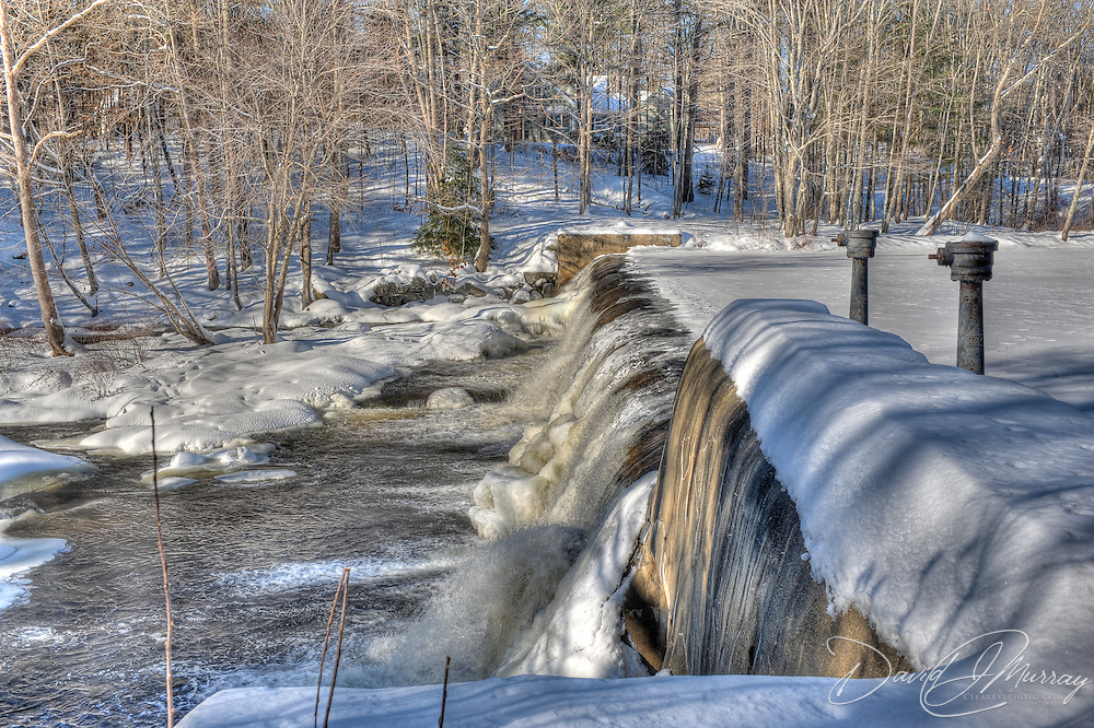 Wiswall Falls on the Lamprey River outside New Market, NH