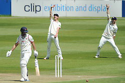 Will Tavare of Gloucestershire and Chris Dent of Gloucestershire appeal Alviro Petersen for LBW - Photo mandatory by-line: Dougie Allward/JMP - Mobile: 07966 386802 - 07/06/2015 - SPORT - Football - Bristol - County Ground - Gloucestershire Cricket v Lancashire Cricket - LV= County Championship
