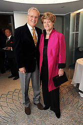 NICHOLAS & ANNIE PARSONS at the Lady Taverners Tribute Lunch in honour of Nicholas Parsons held at The Dorchester, Park Lane, London on 20th November 2009.