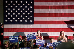 Supporters at a May 11, 2016 campaign stop of presumable democratic presidential candidate Hillary Clinton at Camden County College in Blackwood, Gloucester Township, NJ.
