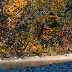 The Saco River in fall in Bartlett, New Hampshire.