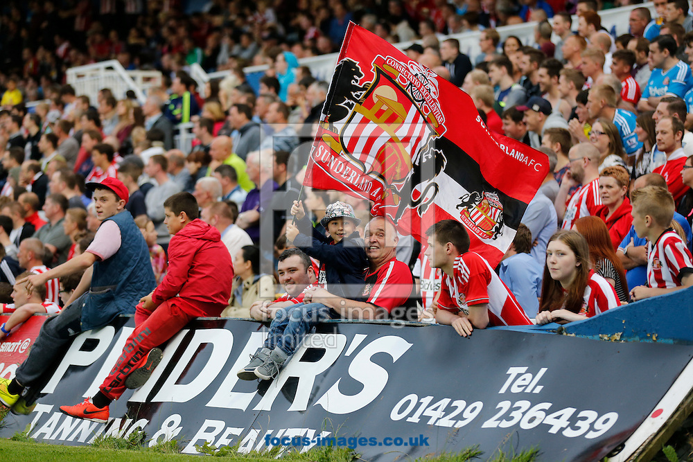 Sunderland fans during the Pre Season Friendly match at Victoria Park, Hartlepool<br /> Picture by Simon Moore/Focus Images Ltd 07807 671782<br /> 23/07/2014
