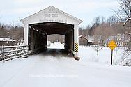 63904-03301 Billie Creek covered bridge at Billie Creek Village in winter, Rockville, IN