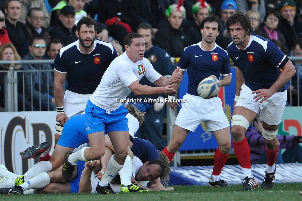 Foto Alfredo Falcone - LaPresse<br /> 12 03 2011 Roma ( Italia )<br /> Sport Rugby<br /> Italia vs Francia<br /> Torneo Sei Nazioni 2010 2011 - Stadio Flaminio di Roma<br /> Nella foto: Fabio Semenzato<br /> <br /> Photo Alfredo Falcone - LaPresse<br /> 12 03 2011 Roma ( Italy )<br /> Sport Rugby<br /> Italia vs Francia<br /> Six Nations 2010 2011 - Flaminio Stadium of Roma.<br /> In the pic:Fabio Semenzato