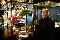 at L'Atelier de Joel Robuchon, Paris...Joel Robuchon...Photograph by Owen Franken