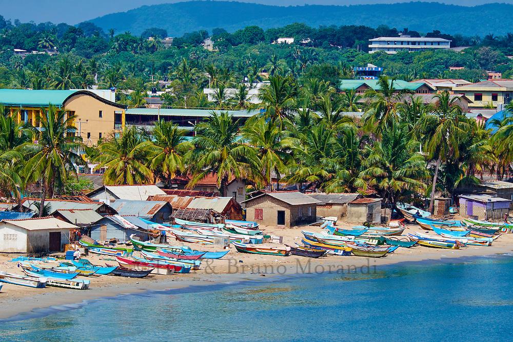 Sri Lanka, province de l'Est, Trincomalee, village de pêcheurs // Sri Lanka, Ceylon, Eastern Province, East Coast, Trincomalee, fishing village