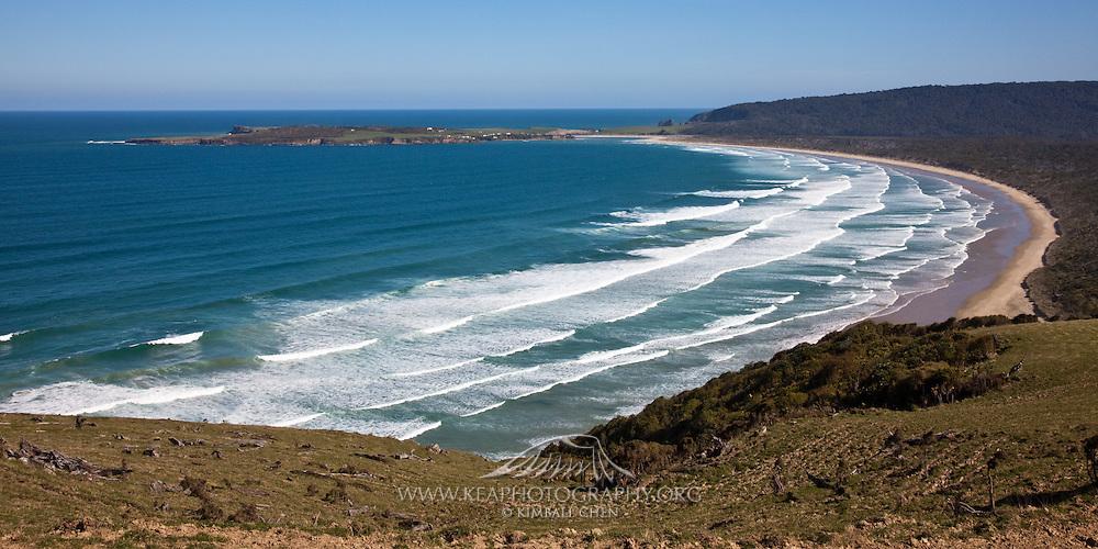 Tautuku Beach (panoramic), Catlins, New Zealand