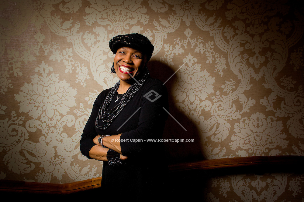 American Jazz singer Dee Dee Bridgewater poses for a portrait at the Helmsley Park Lane Hotel in New York. She is a two-time Grammy Award winning singer-songwriter, as well as a Tony Award - winning stage actress and host of National Public Radio's syndicated radio show JazzSet with Dee Dee Bridgewater. She is a United Nations Ambassador for the Food and Agriculture Organization...Photo by Robert Caplin