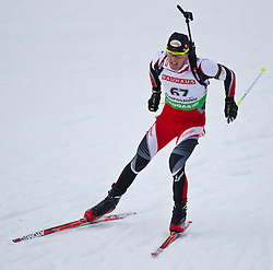 12.01.2011, Chiemgau Arena, GER, IBU Biathlon Worldcup, Ruhpolding, Individual Men, im Bild Friedrich Pinter (AUT) // Friedrich Pinter (AUT) during IBU Biathlon World Cup in Ruhpolding, Germany, EXPA Pictures © 2011, PhotoCredit: EXPA/ J. Feichter