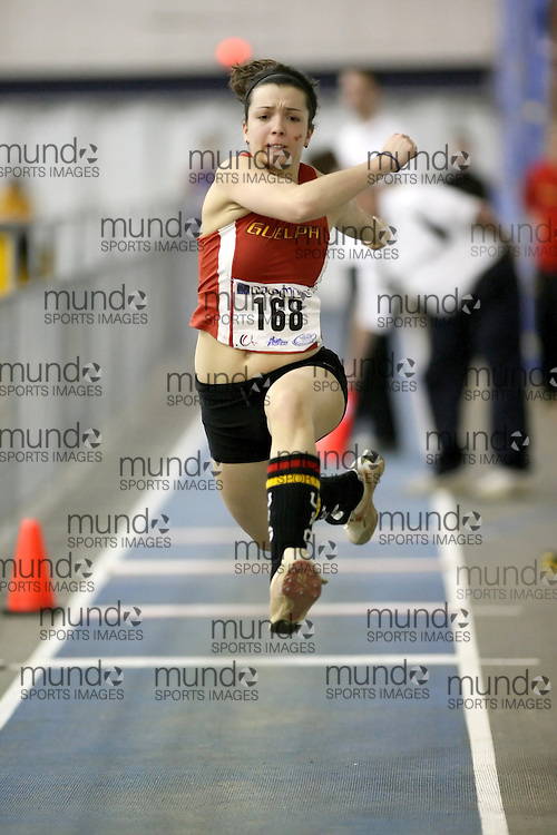 Windsor, Ontario ---14/03/09--- Kim Richardson of  the University of Guelph competes in the Women's Triple Jump at the CIS track and field championships in Windsor, Ontario, March 14, 2009..Sean Burges Mundo Sport Images