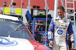 April 13, 2018 - Bristol, Tennessee, United States of America - April 13, 2018 - Bristol, Tennessee, USA: AJ Allmendinger (47) gets ready to practice for the Food City 500 at Bristol Motor Speedway in Bristol, Tennessee. (Credit Image: © Stephen A. Arce/ASP via ZUMA Wire)