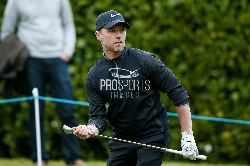 Singer and songwriter Ronan Keating during the BMW PGA Championship Celebrity Pro-Am Day at the Wentworth Club, Virginia Water, United Kingdom on 25 May 2016. Photo by Simon Davies.