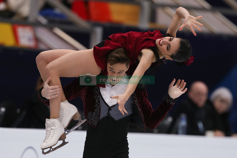 January 20, 2018 - Moscow, Russia - Sara Hurtado and Kirill Khaliavin of Spain perform during an ice dance free dance event at the 2018 ISU European Figure Skating Championships, at Megasport Arena in Moscow, on January 20, 2018. (Credit Image: © Igor Russak/NurPhoto via ZUMA Press)