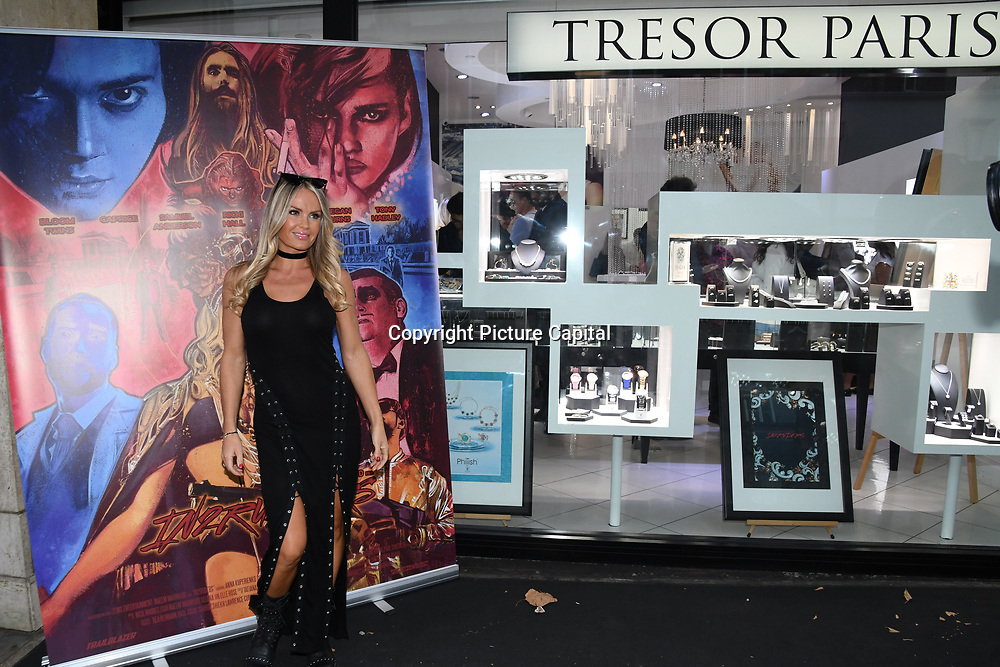 Annie Cooper is a actress arrives at Tresor Paris In2ruders - launch at Tresor Paris, 7 Greville Street, Hatton Garden, London, UK 13th September 2018.