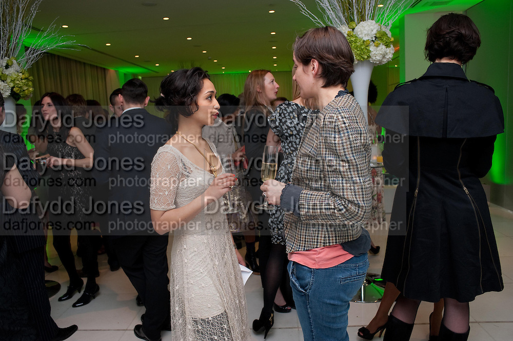 RUTH NEGGA; SARAH BACON, English National Ballet Beyond Ballets Russes at the London Coliseum opening night party at the St Martins Lane Hote, Londonl . 22 March 2012.