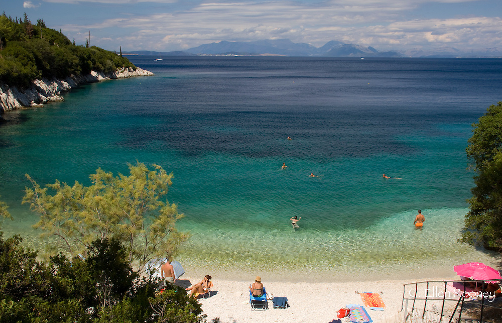 Shinari Beach near Frikes;  Ithaca, The Ionian Islands, Greece