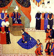 John Sigismund of Hungary meeting Suleiman the Magnificent in 1556.John Sigismund (1540 - 1571) became King of Transylvania. John was frail and artistic, an accomplished linguist and a superior monarch. Above all, he was deeply interested in religion, an