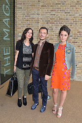 Left to right, ESTELLA THOMAS, MATTHEW WILLIAMSON and ROSANNA FALCONER at a summer drinks party hosted by Bec Astley Clarke at the Serpentine Sackler Gallery, Hyde Park, London on 17th June 2014.