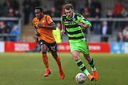 Forest Green Rovers Christian Doidge(9) runs forward during the EFL Sky Bet League 2 match between Barnet and Forest Green Rovers at The Hive Stadium, London, England on 7 April 2018. Picture by Shane Healey.