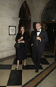 Martin Baker and Nicola Horlick. Andy and P{atti Wong host  party to cleebrate then Chinese New Year of the Dog. Royal Courts of Justice. Strand. London. 28 January 2006. © Copyright Photograph by Dafydd Jones 66 Stockwell Park Rd. London SW9 0DA Tel 020 7733 0108 www.dafjones.com