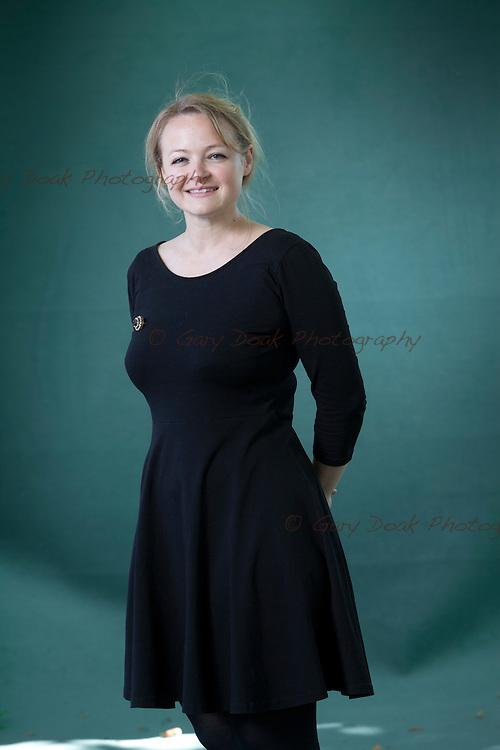 Lucy Ribchester, the Scottish historical fiction author, at the Edinburgh International Book Festival 2015.<br /> Edinburgh, Scotland. 26th August 2015 <br /> <br /> Photograph by Gary Doak