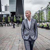 Nederland, Rotterdam, 25 mei 2016.<br /> oud-Tweede Kamerlid Mark Verheijen (VVD). Hij moest aftreden wegens foute declaraties en heeft in zijn Kamerloze tijd een boek geschreven over voormalig VVD-boegbeeld Harm van Riel.<br /> <br /> Foto: Jean-Pierre Jans
