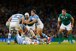 Argentina's Man of the Match Nicolas Sanchez in action - Mandatory byline: Rogan Thomson/JMP - 07966 386802 - 18/10/2015 - RUGBY UNION - Millennium Stadium - Cardiff, Wales - Ireland v Argentina - Rugby World Cup 2015 Quarter Finals.