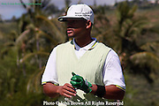 American actor and comedian Will Smith looks down the fairway prior to the Pro-Am event at The 2005 Sony Open In Hawaii. The event was held at The Waialae Country Club in Honolulu.
