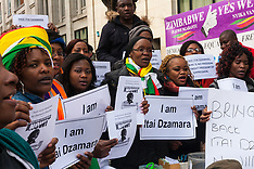 2015-03-14 Zimbabweans protest in London against disappearance of democracy campaigner Itai Dzamara