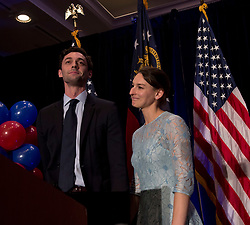 June 20 2017 - Atlanta, Georgia, U.S. -  With his fiancee, ALISHA KRAMER, by his side, JON OSSOFF, the Georgia Sixth District's Democratic candidate, speaks after conceding the election to Republican Karen Handel.(Credit Image: © Brian Cahn via ZUMA Wire)