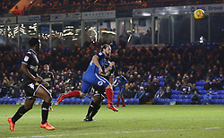 Jack Marriott of Peterborough United heads in his sides second goal of the game - Mandatory by-line: Joe Dent/JMP - 23/12/2017 - FOOTBALL - ABAX Stadium - Peterborough, England - Peterborough United v Bury - Sky Bet League One