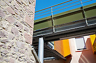 Le Clos Victor Clément à Thizy dans le département du Rhône (69), réalisé par l'architecte Bernard Rivolier pour l 'OPAC du Rhône.