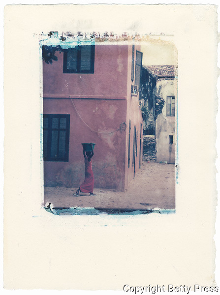 Woman fetching water.<br />