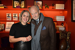 ***UK_MAGAZINES_OUT***<br /> LONDON, ENGLAND 30 NOVEMBER 2016: <br /> Left to right, Mandolyna Theodoracopulos, Harry Fane at the launch of In The Spirit of Gstaad at Maison Assouline, Piccadilly, London hosted by Mandolyna Theodoracopulos and Homera Sahni England. 30 November 2016.