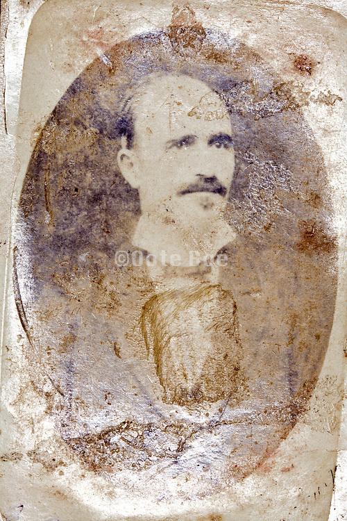 oxidizing studio portrait of an adult man