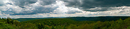 Panoramic view from the High Knob Overlook at Worlds End State Park in Pennsylvania.