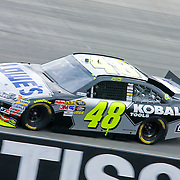 9/26/10 Dover DE: with 210 laps completed Jimmie Johnson #48 leads the Sprint Cup race at Dover International Speedway in Dover Delaware. Special to The News Journal/SAQUAN STIMPSON
