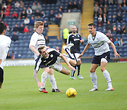 Dundee's Kevin Holt takes a tumble after a challenge from Raith's Ryan McCord - Raith Rovers v Dundee, pre-season friendly at Starks Park<br /> <br />  - &copy; David Young - www.davidyoungphoto.co.uk - email: davidyoungphoto@gmail.com