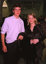 MR ALEX SCARFFE and his sister MISS KATIE SCARFFE children of Gerald Scarffe and Jane Asher, at an exhibition in London on 1st October 1998.MKL 23