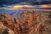 Lightning strikes the Painted Desert of nothern Arizona near the East Rim of Grand Canyon National Park.