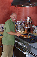 Chef Mark Miller in his kitchen, Santa Fe, New Mexico. GE-Monogram advertising campaign