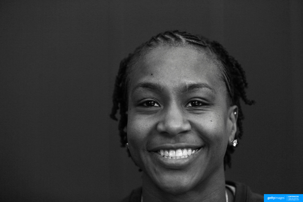 Player Portraits: Tamika Catchings <br /> <br /> The 2016 USA Basketball Women's National Team Training Camp at the  University of Connecticut&rsquo;s Werth Family UConn Basketball Champions Center, Storrs, Connecticut. 21st February 2016. Photo Tim Clayton