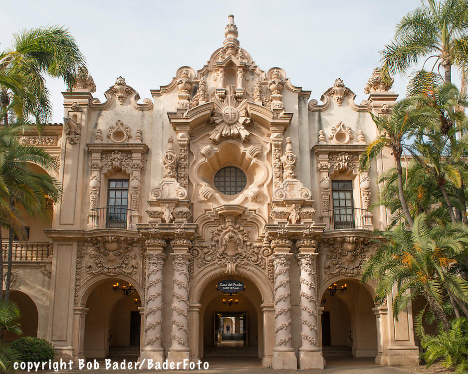 Casa del Prado, built for the 1915 Pan American Exposition, in San Diego's Balboa Park