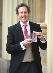 December 20, 2018 - London, London, United Kingdom - Image licensed to i-Images Picture Agency. 20/12/2018. London, United Kingdom. Monty Don with his award after an Investiture at Buckingham Palace in London. (Credit Image: © Pool/i-Images via ZUMA Press)