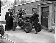 03/07/1961<br /> 07/03/1961<br /> 03 July 1961<br /> Presentation of Fordson Super Major tractor at Albert College, Glasnevin, Dublin by Henry Ford and Son of Cork Ltd.