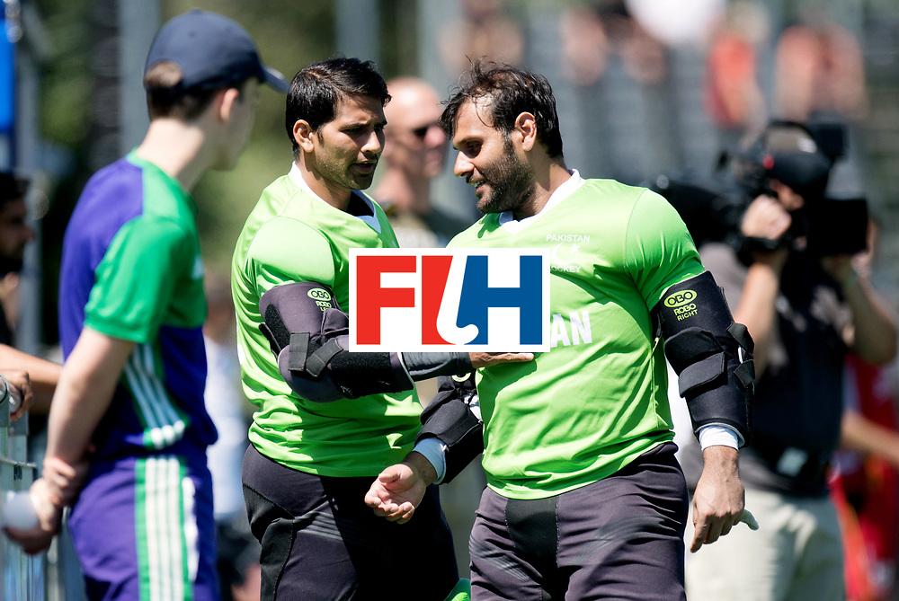 BREDA - Rabobank Hockey Champions Trophy<br /> 5th/6th place Belgium - Pakistan<br /> Belgium wins after shoot out.<br /> Photo: Imran Butt and Amjad Ali.<br /> COPYRIGHT WORLDSPORTPICS FRANK UIJLENBROEK