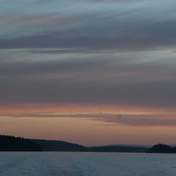 Dusk Over Orcas Island, San Juan Islands, Washington, US