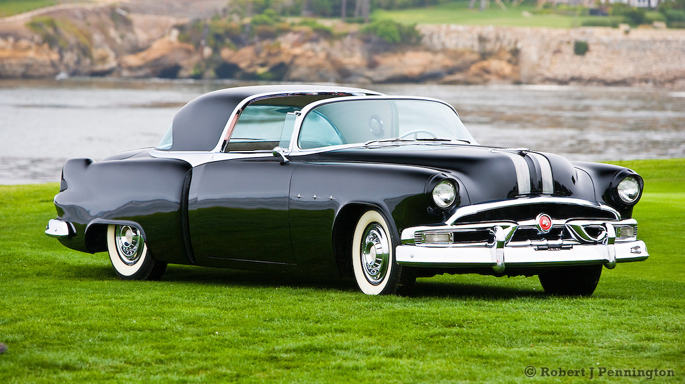 General Motors displays a collection of Concept Cars from the Motorama of the mid 1950s on the 18th Green of the 2008 Pebble Beach Concours de Elegance. 1953 Pontiac Parisienne.