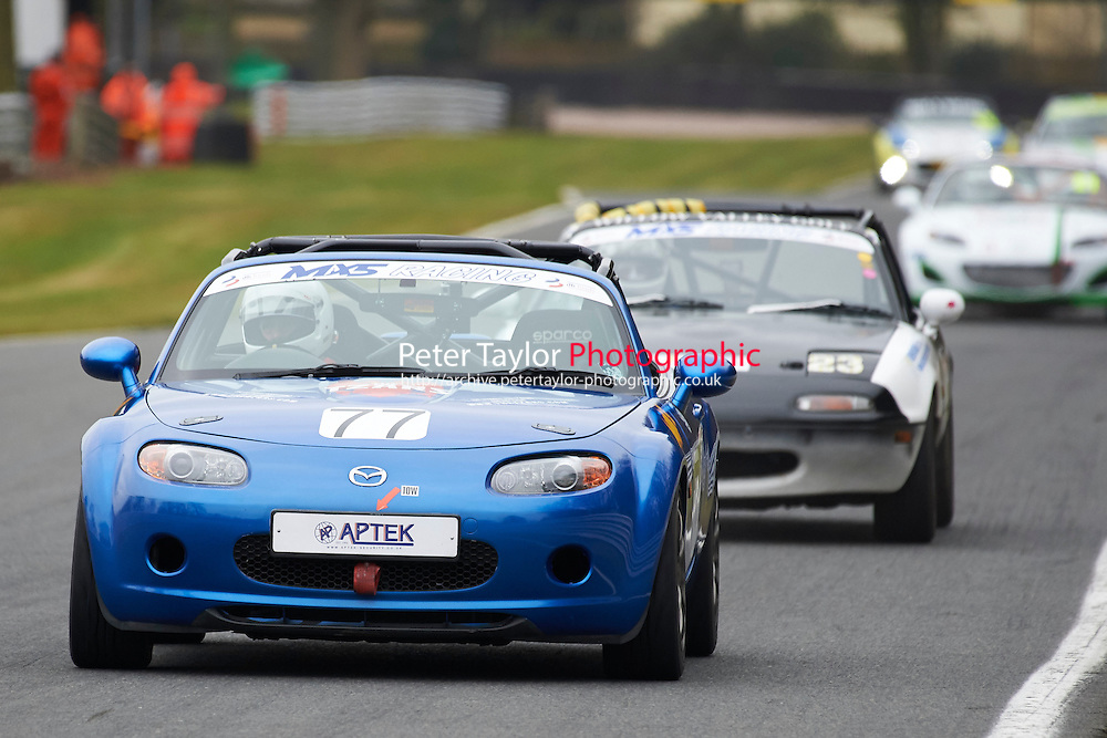 #77 Andrew PRETORIUS Mazda MX5 Mk3 2000 during Max 5 Championship as part of the BARC NW - Championship Raceday  at Oulton Park, Little Budworth, Cheshire, United Kingdom. March 19 2016. World Copyright Peter Taylor/PSP. Copy of publication required for printed pictures.  Every used picture is fee-liable. http://archive.petertaylor-photographic.co.uk